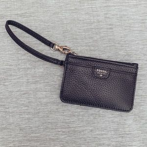 NWT Leather Fossil Card Wallet
